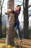 Joy in autumn Stock Photo