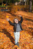 Joy of autumn season. Stock Images