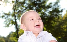 Joy of baby Stock Images