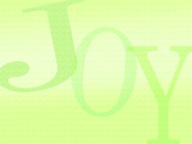 Joy background letters. An illustration image made up of the three letters in the word JOY. Sweet and refreshing lime and green colour palette. Slightly textured royalty free illustration