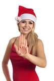 JOY - Beautiful santa gir Stock Photography