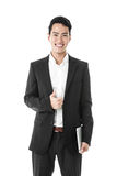 Joy of being a businessman Royalty Free Stock Photo
