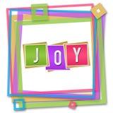 Joy Blocks Colorful Frame Royalty Free Stock Photography