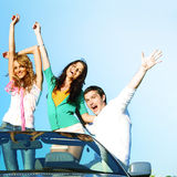 Joy in cabriolet Royalty Free Stock Photography