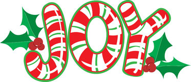 Joy Candy Cane Stock Images