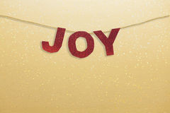 Joy Christmas Decoration Royalty Free Stock Photography