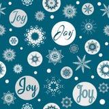 Joy Christmas text design illustration Stock Image