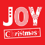 Joy christmas typography Royalty Free Stock Photography