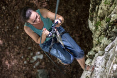 Joy of climbing Royalty Free Stock Images
