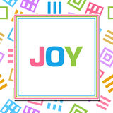 Joy Colorful Abstract Squares Royalty-vrije Stock Foto