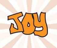 Joy comic word Stock Photography