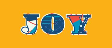 Joy Concept Word Art Illustration stock illustrationer