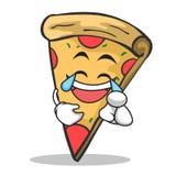 Joy face pizza character cartoon. Vector illustration Stock Images