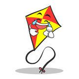 Joy face red kite character cartoon Royalty Free Stock Photography