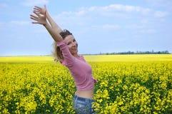 Joy among fields Stock Photos