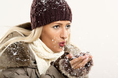 Joy Of The First Snow Royalty Free Stock Photography
