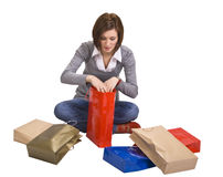 The joy of gifts Stock Photography