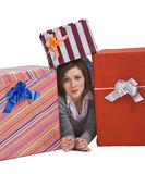 The joy of gifts Royalty Free Stock Photography