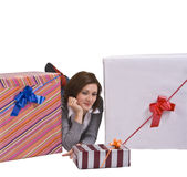 The joy of gifts Royalty Free Stock Images