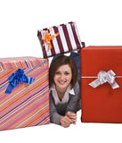 The joy of gifts Royalty Free Stock Image