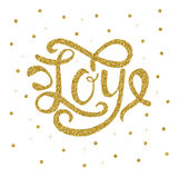Joy gold lettering Stock Images