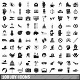 100 joy icons set, simple style. 100 joy icons set in simple style for any design vector illustration vector illustration
