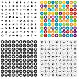 100 joy icons set vector variant. 100 joy icons set vector in 4 variant for any web design isolated on white royalty free illustration