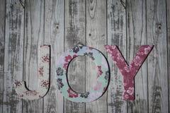 Joy. Image of the word 'Joy' against a fence Royalty Free Stock Image
