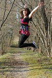 Joy and jump Royalty Free Stock Photo