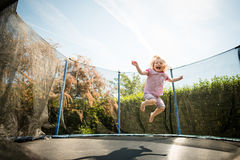Joy - jumping trampoline Stock Photography