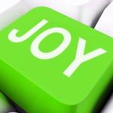 Joy Keys Mean Enjoy Or feliz Fotografía de archivo