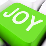 Joy Keys Mean Enjoy Or Happy Royalty Free Stock Photos