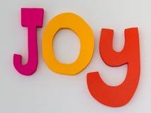 Joy Letters: Messaggio di testo su fondo bianco Immagine Stock Libera da Diritti
