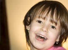 Joy of little girl. Portrait Stock Image