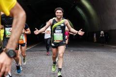The joy of the marathon athlete Stock Images