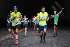 The joy of the marathon athlete Royalty Free Stock Photos