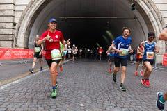 The joy of the marathon athlete Royalty Free Stock Photography