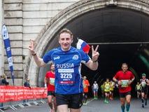 The joy of the marathon athlete Stock Photos