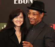 Joy McManigal and Giancarlo Esposito. Actor Giancarlo Esposito and wife Joy McManigal arrive on the red carpet for the premiere of Red Tails, the story of the stock photos