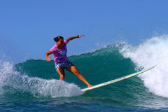 Joy Monahan Woman Surfing Champion Stock Photo