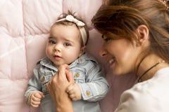 Joy of motherhood Royalty Free Stock Image