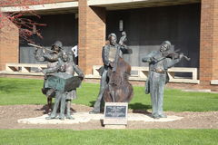 Joy of Music Sculpture by George Lundeen Stock Photo
