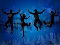 Joy Music Shows Sound Track e salto Fotografia de Stock