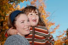 Joy outdoor during fall Royalty Free Stock Images