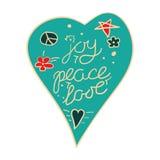 Joy, peace, love heart Royalty Free Stock Photo