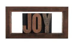 Joy in a printer's copper frame cut Stock Photos