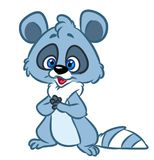Joy raccoon cartoon illustration Royalty Free Stock Photo
