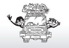 Joy ride - happy family Stock Images