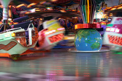 Joy Ride Moving At Night Royalty Free Stock Photos