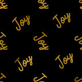 Joy Seamless Pattern On Black Fotografie Stock Libere da Diritti